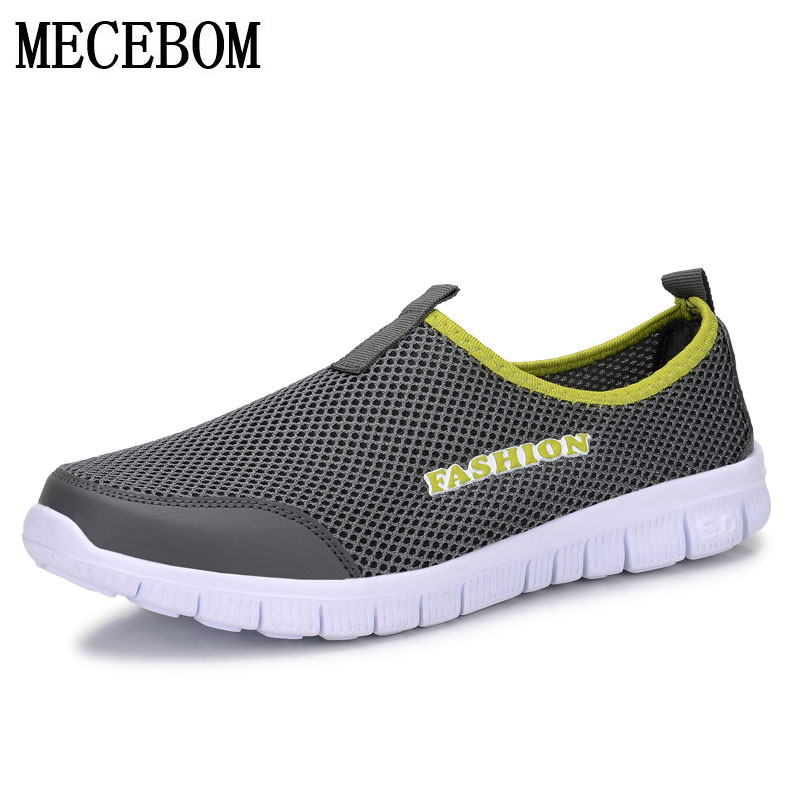 Mens Summer Shoes Plus Size 35-46 Comfortable Men Casual Shoes Mesh Breathable Loafers Slip-on Footwear A01m ...