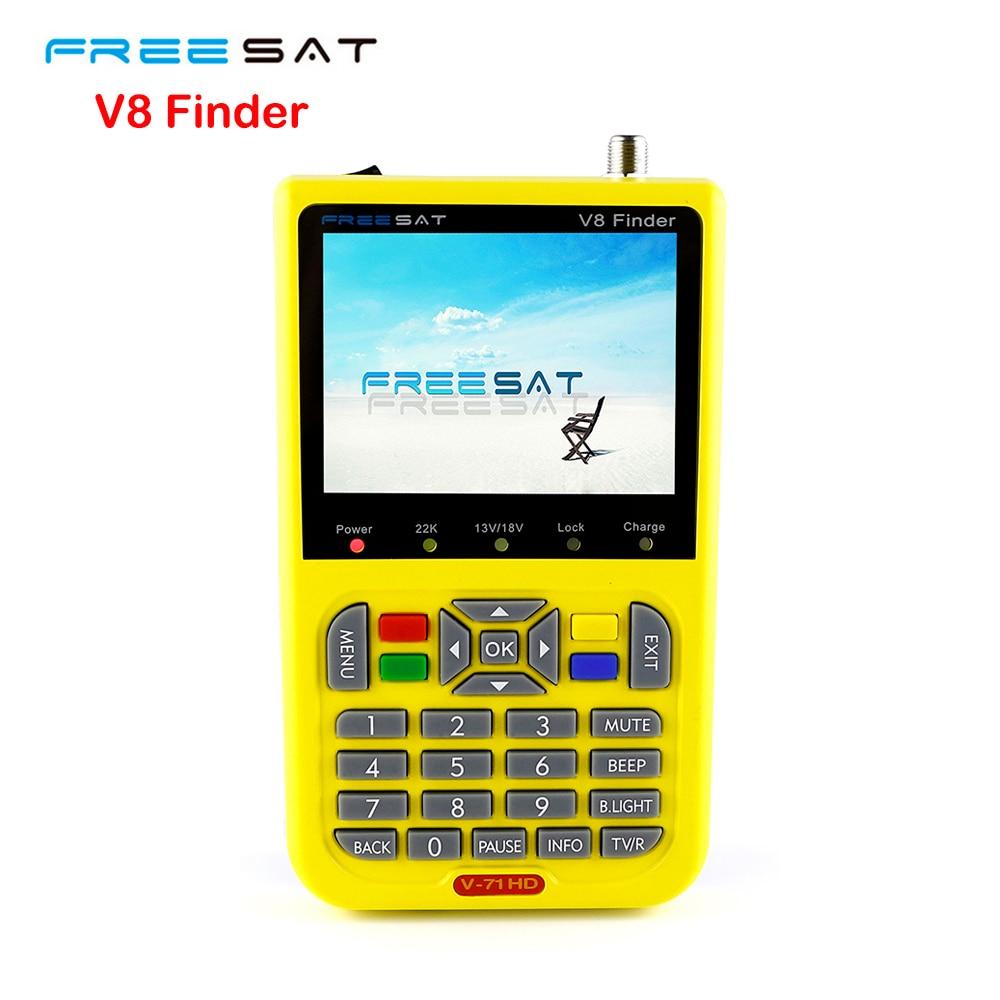 SATXTREM FREESAT V8 Finder Satellite signal Finder V-71 HD DVB-S2 MPEG-2/MPEG-4 FTA Digital Satellite meter 3.5 inch LCD Display freesat v8 finder dvb s2 digital finder 3 5 inch lcd mpeg 2 mpeg4 compliant digital satfinder vs satellite finder satlink ws6906