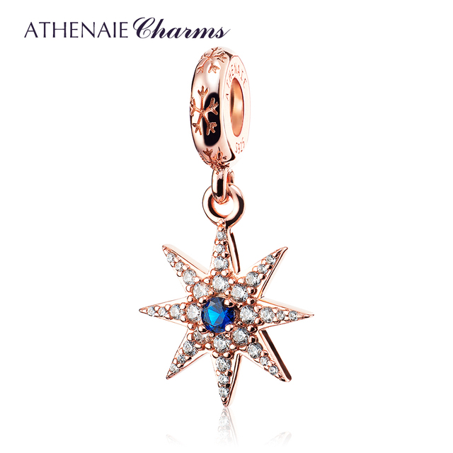 Rose Gold Sun Charm Pendant 100% Geunine 925 Sterling Silver Sunflower Bead with Clear Cz Stone Fit European Charms Bracelet KiuQFbuNJ