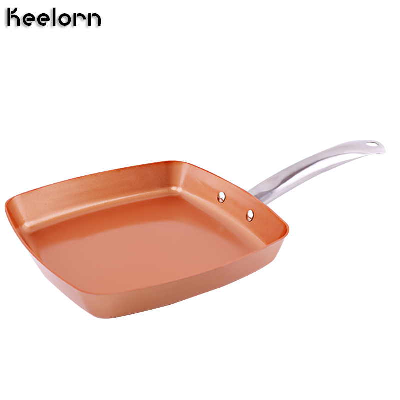 Keelorn Non Stick Copper Frying Pan Induction Chef Pans