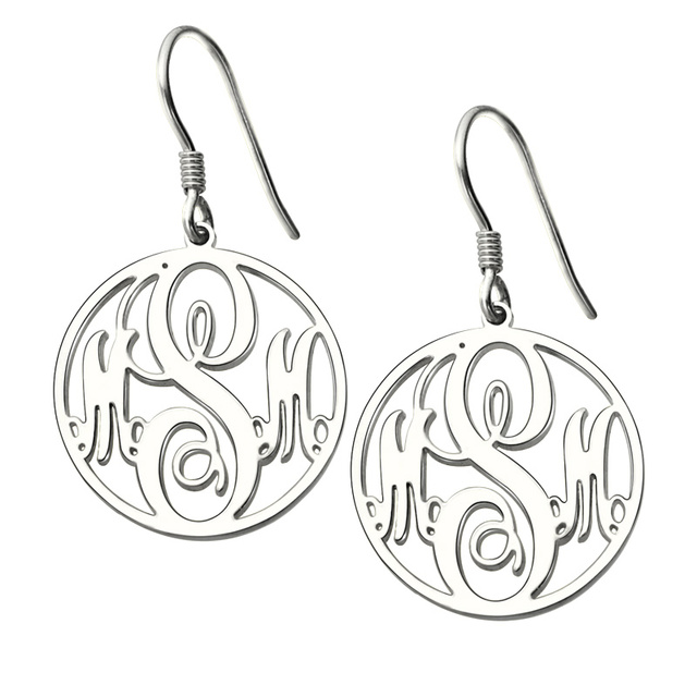 silver mounted earrings ngraved pearl post products image back with stud engraved monogram