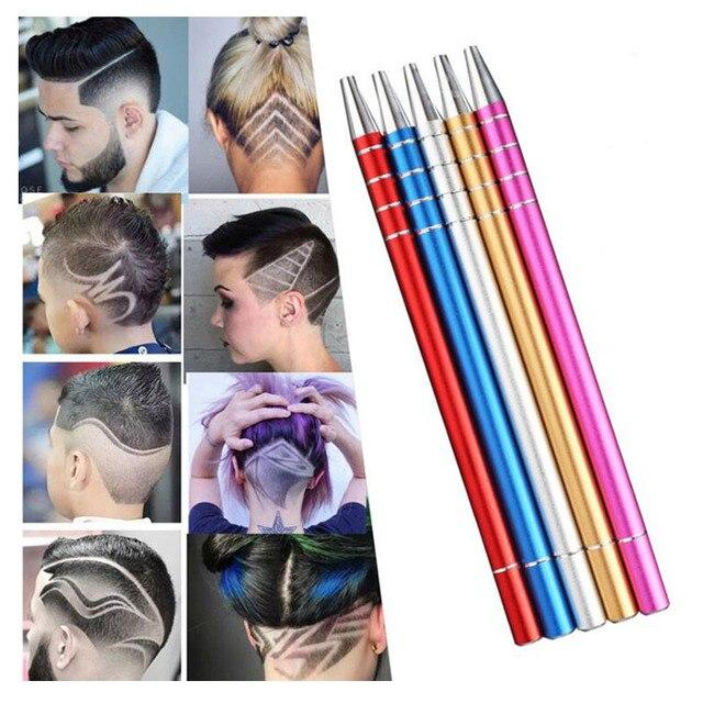 Europeo de pelo tijeras de acero inoxidable pluma salón magia cejas grabar Cortadoras de barba de peluquería virutas