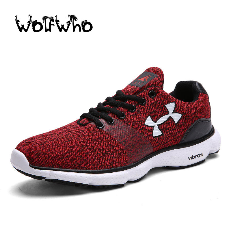 New Plus Size 45 Breath Men Casual Light Jogging UA Shoes Fly Weave Mens Trainers Walking