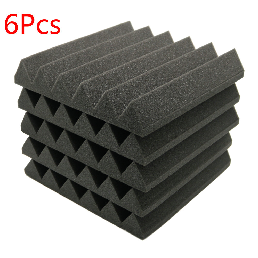 6pcs Acoustic Soundproof Sound Stop Absorption Wedge Studio Foam 12x 12x2 sound absorption coefficient analysis