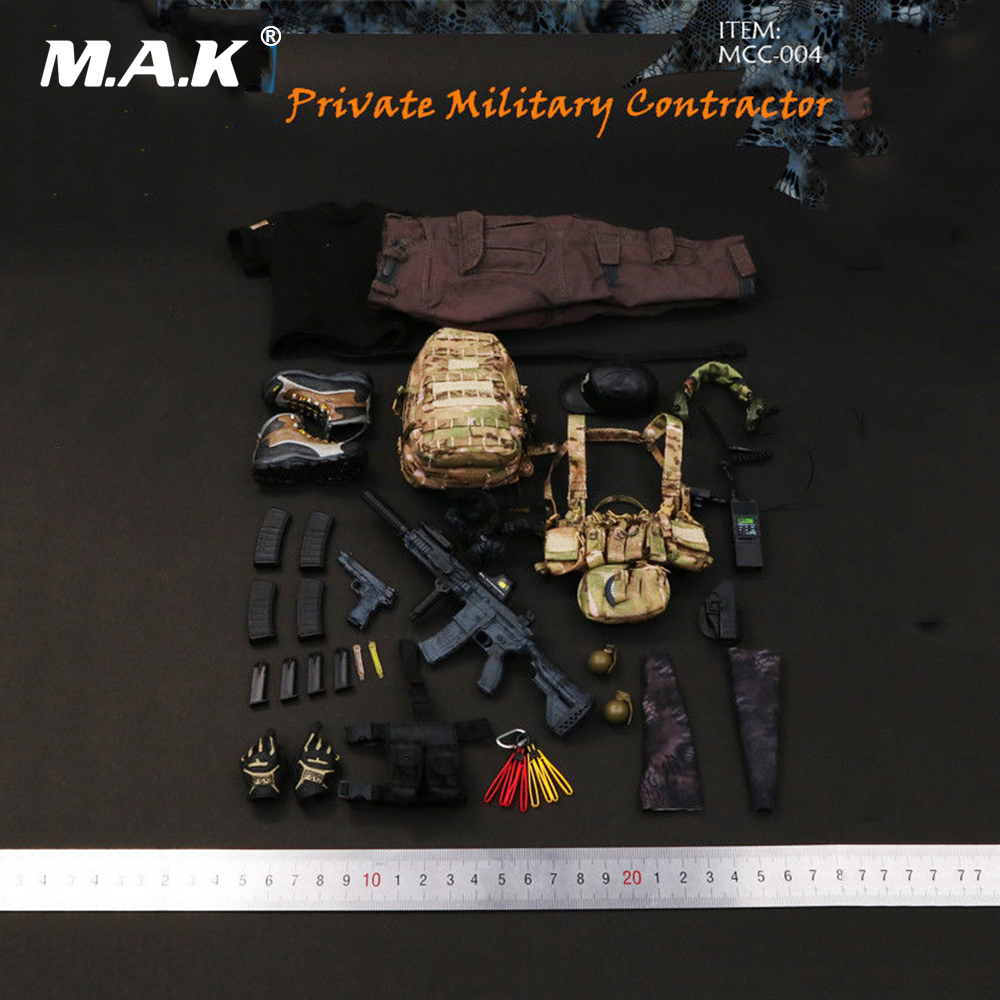 1/6 Scale Man Clothes Accessory PMC Private Military Contractor Combat Set Weapon Toys for 12 Male Action Figure
