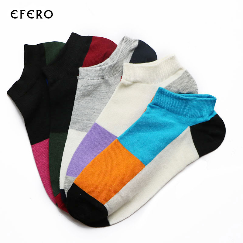 5Pair 2017 New Mix Colors Men Dress Ankle Socks Sock Casual Compression Socks Male Shallow Mouth Short Socks Calcetines