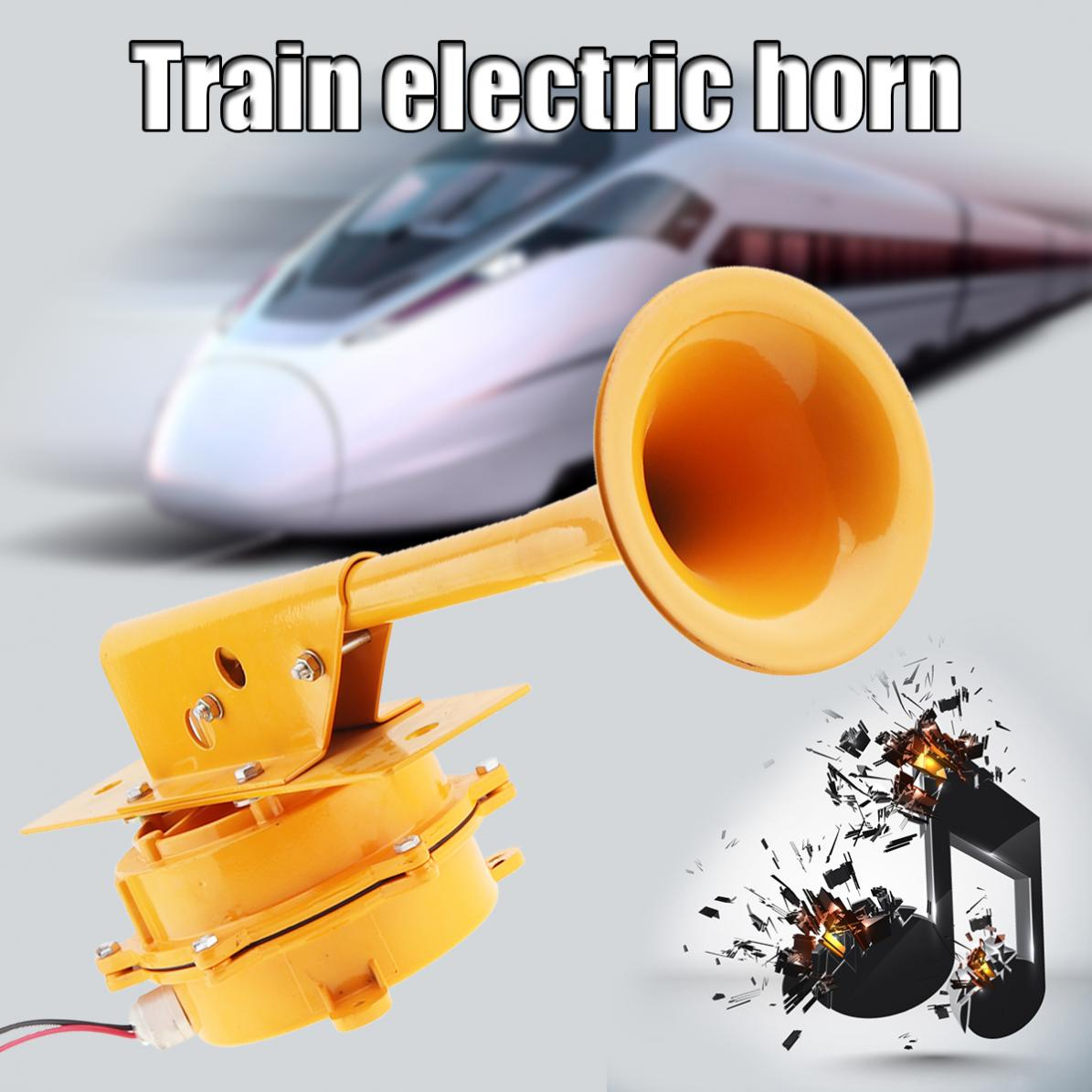 цена 12V / 24V Universal 126DB 320HZ Super Loud All Metal Train Horn No Need Compressor for Truck / Boat / Train / Lorry
