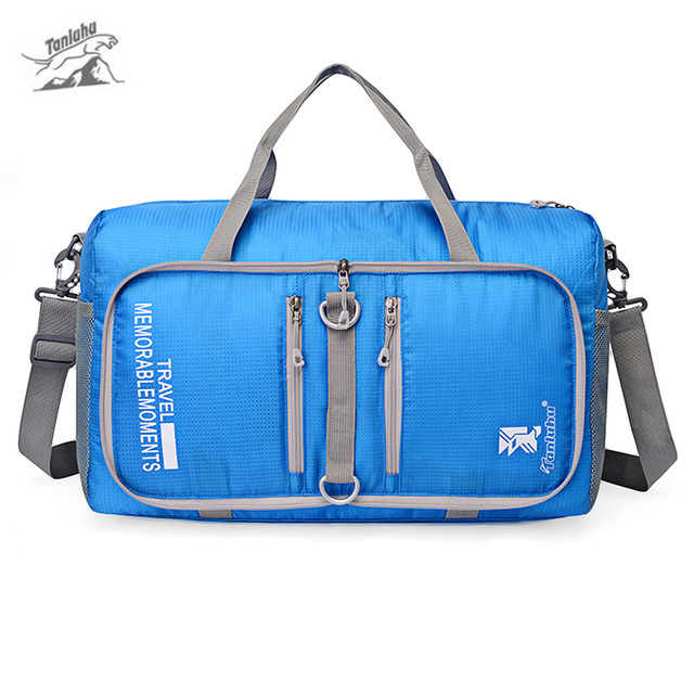 04bc5496cd Tanluhu 25L Outdoor Large Capacity Bag Foldable Duffle Gym Traveling  Luggage Pack Nylon Sports Bag Outdoor Climbing Hiking