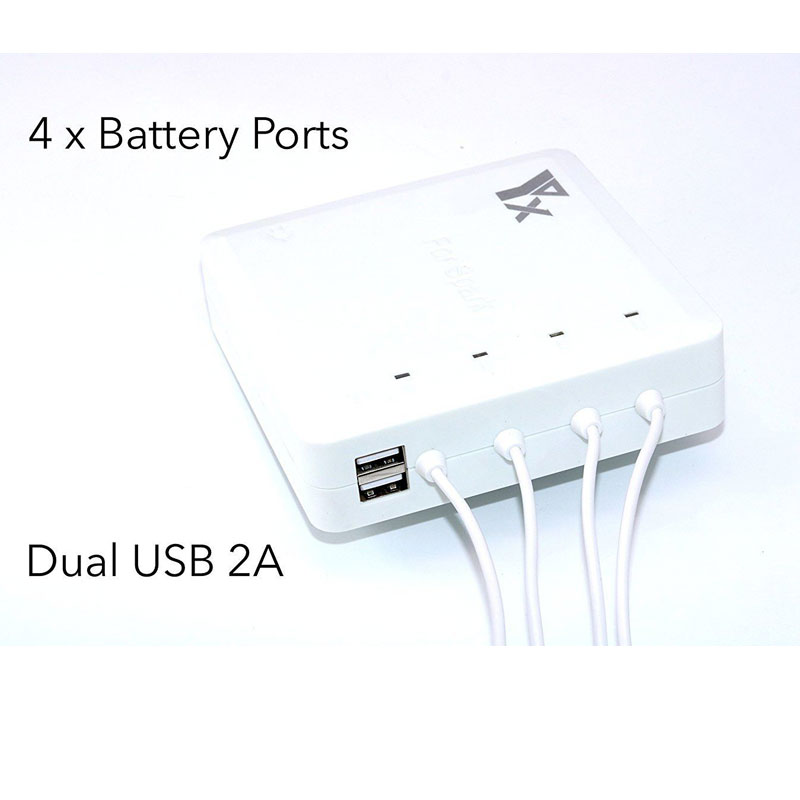 6 in 1 Battery Parallel Charger Hub Remote Control Dual USB for DJI SPARK Combo