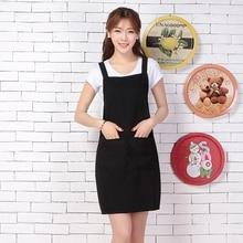 Korean anti-fouling kitchen apron fashion coffee shop waiter overalls mens womens custom logo
