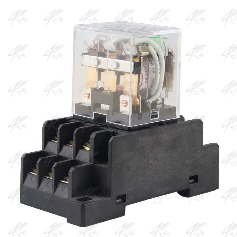 LY3NJ JQX-13F HH63P 220vac relay 24v 12v 36v AC/DC 10A silver contact dpdt electric relay w/ socket base holder ep f57 grey
