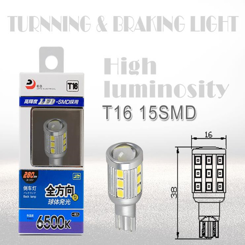 İsti satış T16 Avtomobil LED tərs işıqlar Convision 6000K - Avtomobil işıqları - Fotoqrafiya 5