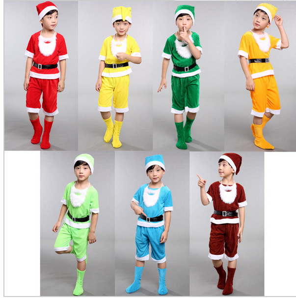 Seven Dwarfs costume for children christmas costumes for kids snow white princess and the seven dwarfs festival cosplay S-XL
