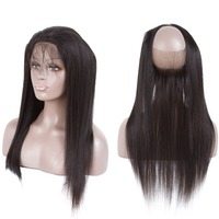Moxika Hair 360 Lace Frontal Closure Brazilian Straight Human Hair Closure Pre Plucked With Baby Hair 8 20inch Remy Frontal