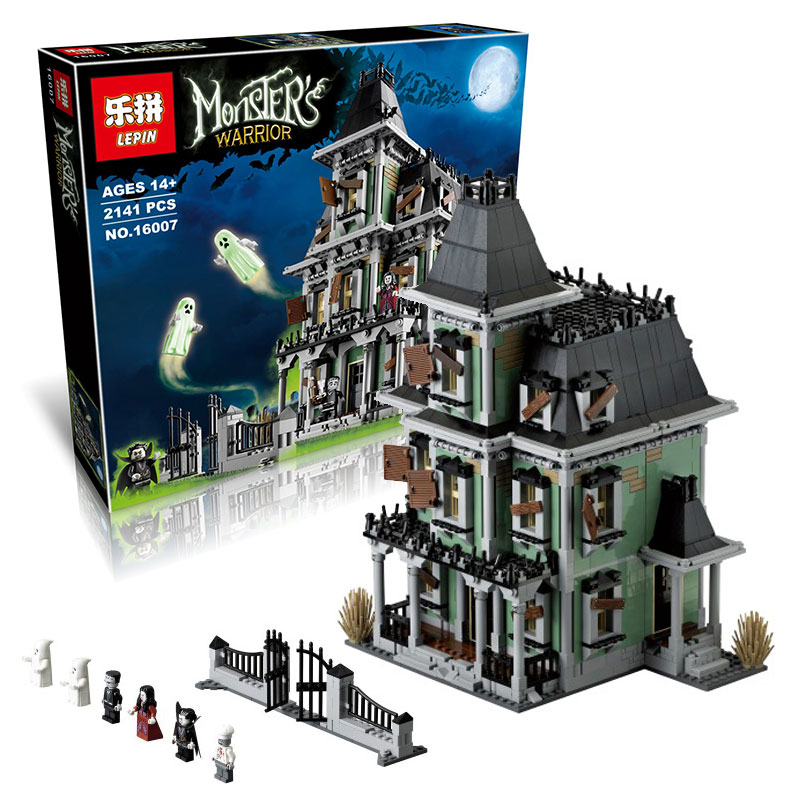Lepin 16007 Monster fighter The Haunted House Model Building movie Assembling Educational Toys Compatible With Lego 10228 lepin 16007 2141pcs monster fighter the haunted house model set building kits model compatible with 10228 educational toys gifts