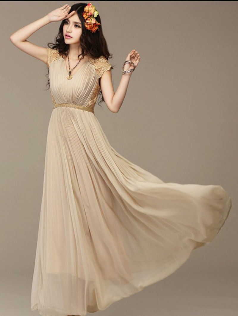 Dress star picture more detailed picture about charming a line v charming a line v neck empire waist lace cap sleeves crystal chiffon bridesmaid dresses patterns ombrellifo Images