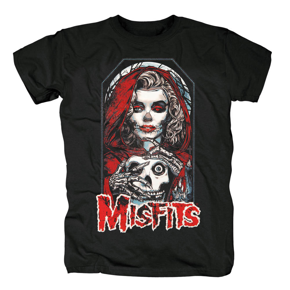 Bloodhoof The Misfits Vampire Friday The 13th Album Thrash Metal Rock Black Cotton New T-shirt Top Tee Asian Size image