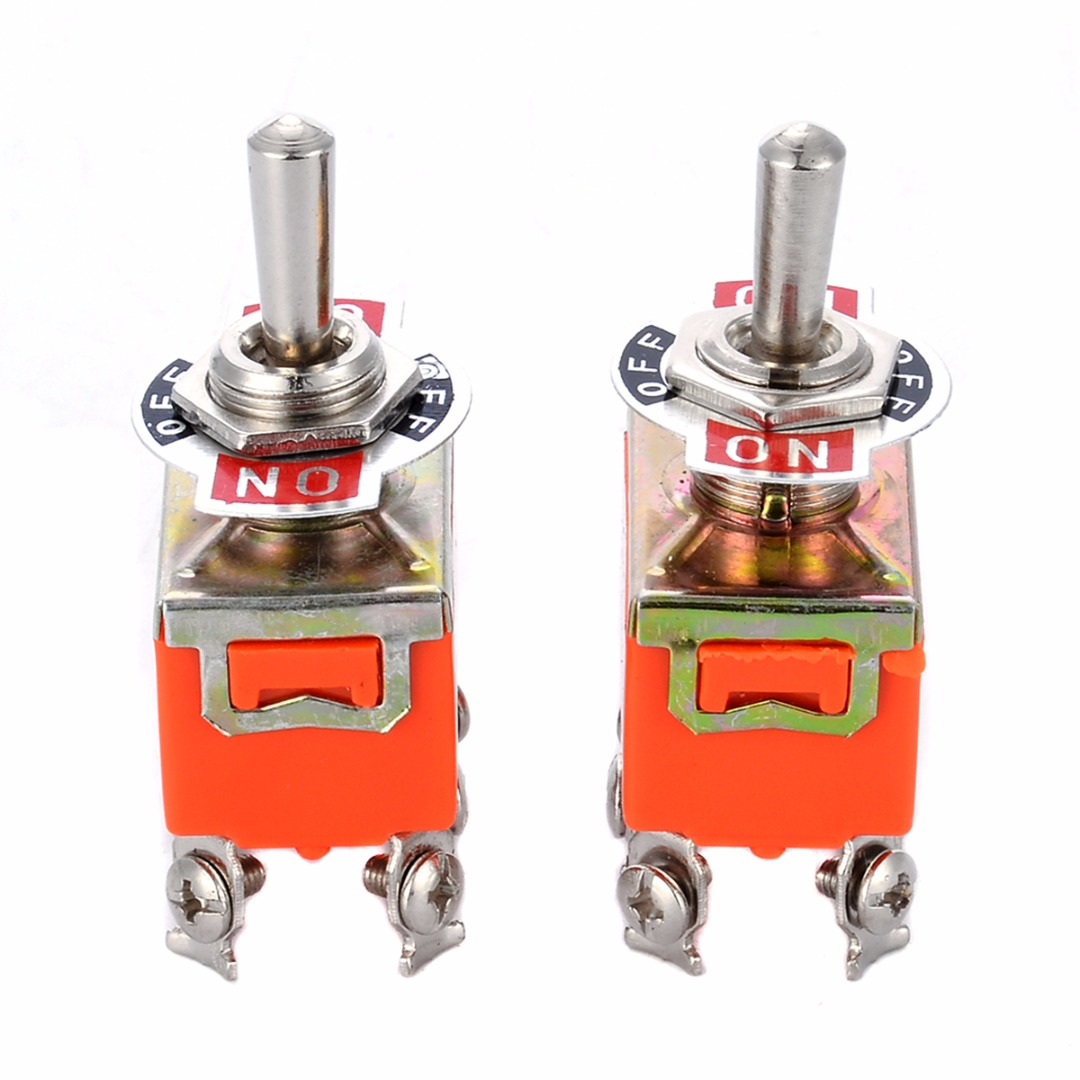 2pcs/lot R-1322 Metal Resin Toggle Switch AC 250V 15A ON/OFF/ON 3 Position Electric DPDT Switches For Switching Lights Motors