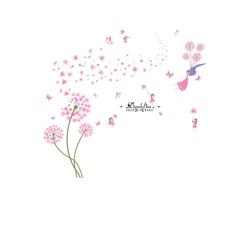 [SHIJUEHEZI] Ροζ πικραλίδα αυτοκόλλητες - Διακόσμηση σπιτιού - Φωτογραφία 5