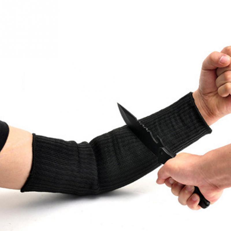 1 par de alambre par de acero a prueba de corte brazo manga guardia Bracer Anti abrasión brazalete Protector Anti-corte brazos trabajo herramienta de protección laboral