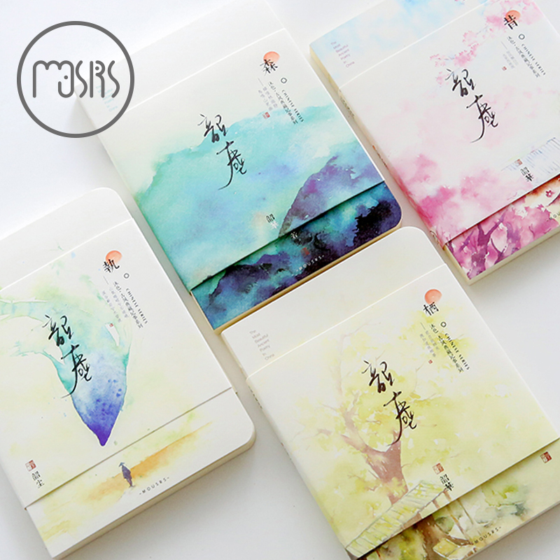 Cute sketchbook watercolor Drawing Diary Notebook School Sketch book 80 sheets paper Office school supplies gift Creative Trends канцелярские кнопки drawing pin creative office 136