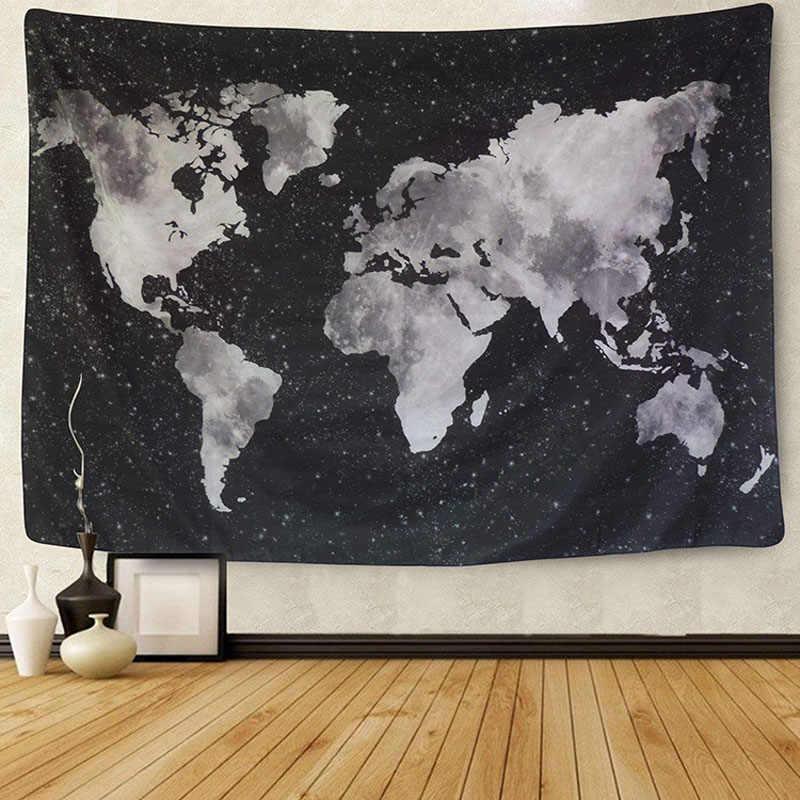 Alfombra de Mandala de poliéster 230*150 CM de tapicería cuadrada para colgar en la pared