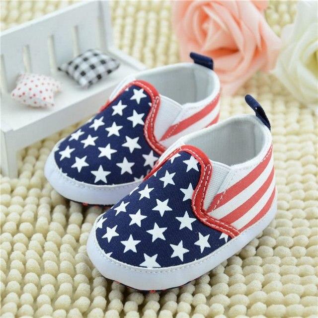 757bed518a6 Babyschoenen 0-1 Jaar Baby Kinderschoenen Indoor antislip Zachte Bodem Peuter  Schoenen Vlag van De
