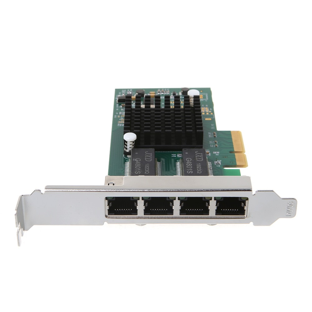 <font><b>Intel</b></font> <font><b>I350</b></font>-<font><b>T4</b></font>-QY Chip PCI-Express PCI-E Four RJ45 Gigabit Ports Server Adapter NIC image
