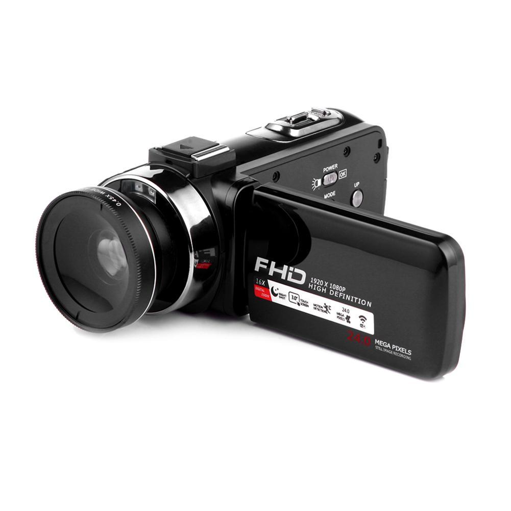 Caméscope Caméra Vidéo Full HD 1080 p 24.0 MP Appareil Photo Numérique Caméscopes 16X Zoom Numérique
