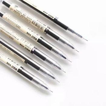 Japoński długopis 0 35mm ciemnoniebieski tusz pióro szkolne biuro student egzamin podpis pióra do pisania dostawa artykułów piśmienniczych tanie i dobre opinie hopk TG32180 Z tworzywa sztucznego Biuro i szkoła pen