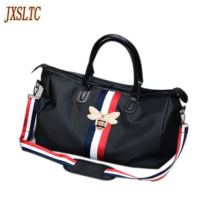 24c36aacf5 2018 fashion brand Travel Bags WaterProof Large Capacity hand Luggage  Traveling bee Bag Women weekend Travel