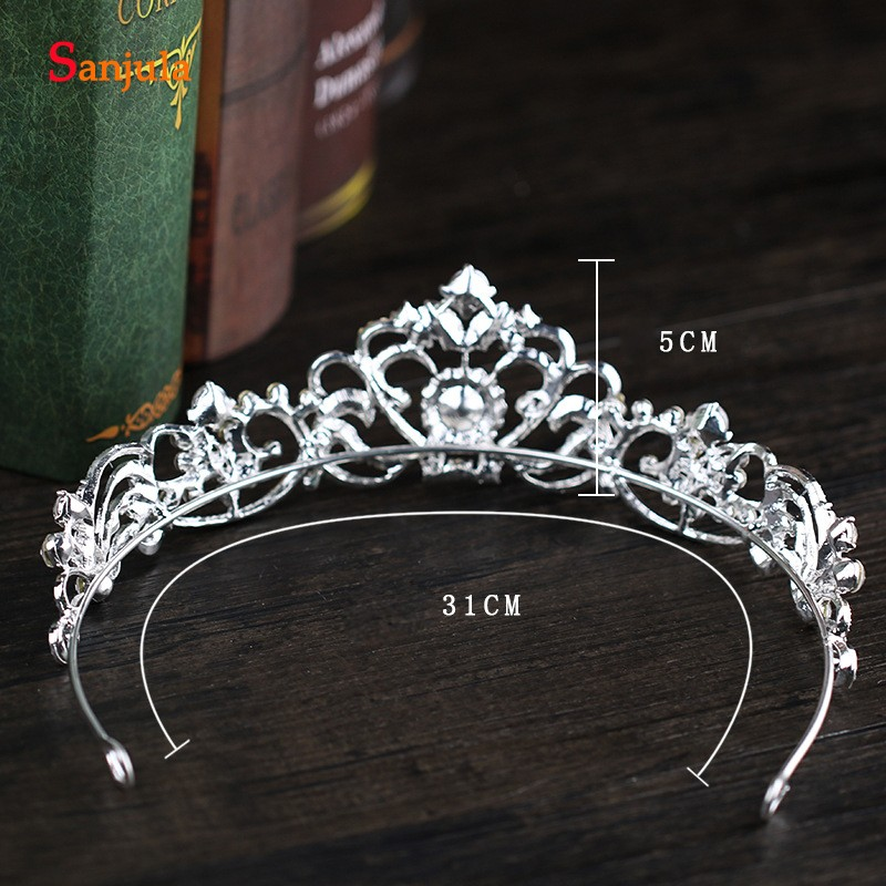 2019 New Hot Bridal Tiaras With Crystal Shinny Princess Party Crowns Wedding Head Accessory T068