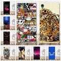 Мультфильм Череп Case Для Sony Xperia Z5 coque Case Силиконовые Мягкий задняя Крышка Для Xperia Z5 коке Цветы Pattern Clear Case Cover