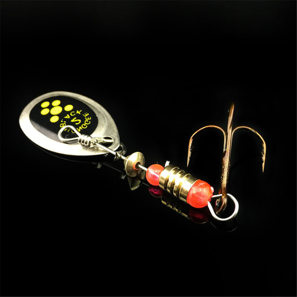 FISHINAPOT 1Pcs Hook 6cm 2.5g Fishing Lure Spinner Spoon Lure Rotating Metal Sequins Bait Hooks Wobbler Crankbait Fishing Tackle