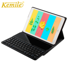 Kemile For new ipad Ultra Slim Glass Bluetooth 3.0 Keyboard Case for New iPad 2018 A1893 A1954 9.7 Stand W Removeable