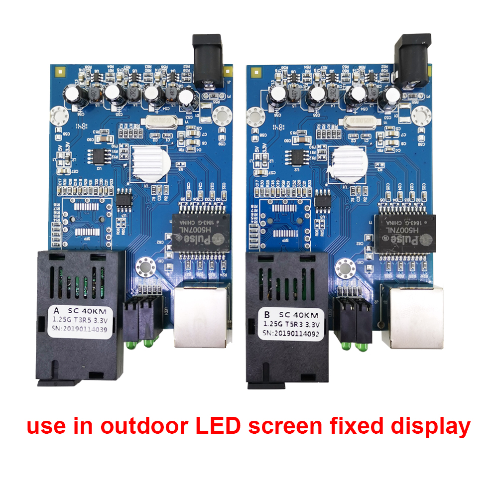 1 Pair Gigabit Fiber Media Converter Led Marquee Signs 1000m Single Mode Single Fiber Sc 20km Outdoor Led Screen Fixed Display To Be Highly Praised And Appreciated By The Consuming Public Cellphones & Telecommunications Communication Equipments
