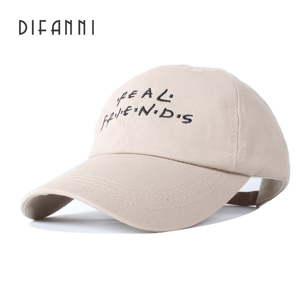 Difanni Fashion Women Baseball Cap Men Casquette Snapback Caps Hats For Men Brand Bone Vintage Real Friends Adjustable Caps New 2016 new new embroidered hold onto your friends casquette polos baseball cap strapback black white pink for men women cap
