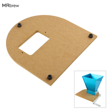 Mounting-Board Crusher Homebrew Grinder Wooden Stainless for Malt Grain-Mill with 2pcs