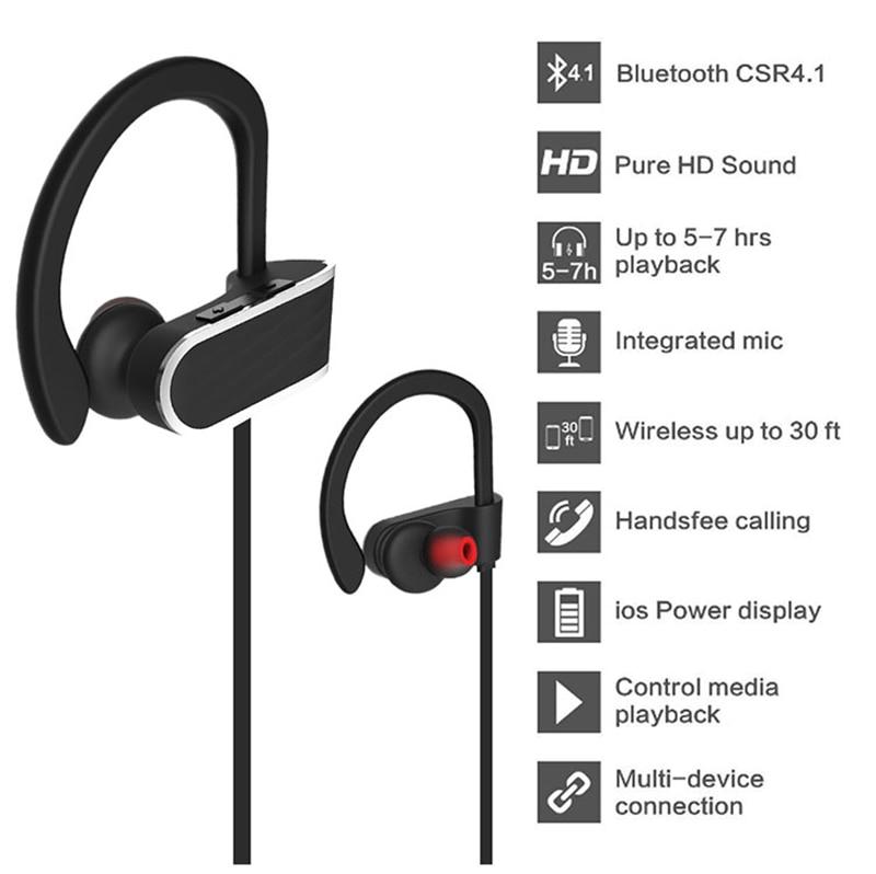 Noise cancelling Sports Bluetooth Headset Wireless Earphone Microphone Handsfree Voice Control Wireless Earphone Music Earbuds