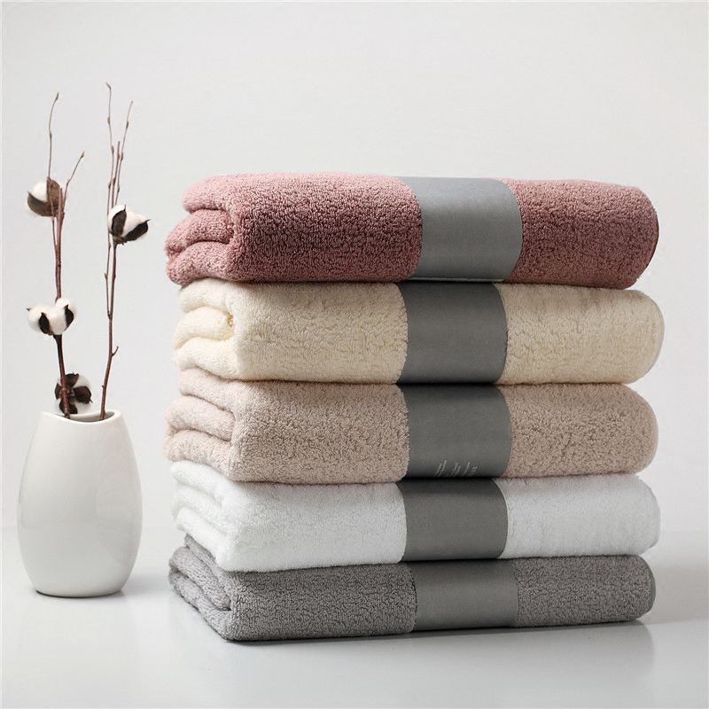 Export Luxury 100 Cotton Couple Bath Towels 80x160 Thick Solid Hotel SPA Bathroom Toalla Playa Beach