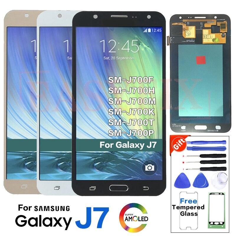 SUPER AMOLED For Samsung J7 2015 J700 SM-J700F LCD Display screen replacement for samsung J700H J700M J700T display LCD moduleSUPER AMOLED For Samsung J7 2015 J700 SM-J700F LCD Display screen replacement for samsung J700H J700M J700T display LCD module