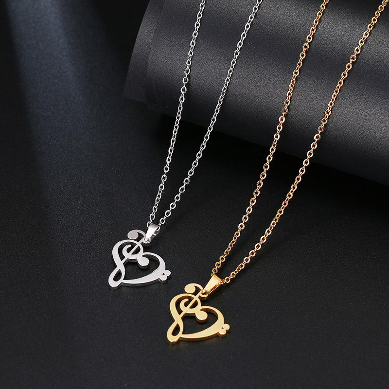HTB1JjfFavvsK1Rjy0Fiq6zwtXXao - DOTIFI Stainless Steel Necklace Music Symbol Heart Of Treble And Bass Clefs Infinity Love Charm Pendant Necklaces Unisex Jewelry