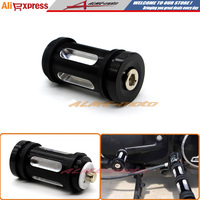 Motorcycle Accessories CNC Billet Aluminum Edge Cut Shifter Peg For Harley Touring Softail Sportster Dyna Black