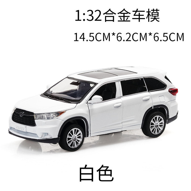 1:32 Toy Car Toyota Highlander  Metal Toy Alloy Car Diecasts & Toy Vehicles Car Model Car Miniature Toys For ChildrenDiecasts & Toy Vehicles