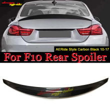 For BMW F10 5 Series 520i 525i 528i 530i 535i 535d 550i Carbon Fiber Ride Style Trunk Spoiler Wing F10 wing Rear spoiler 2010-17 стоимость