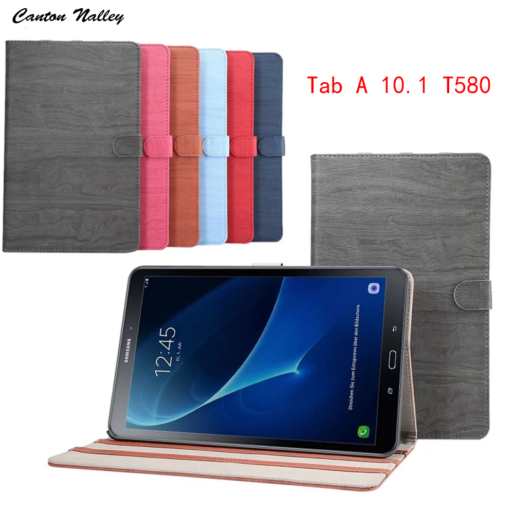 Canton Nalley solid wood case for Samsung galaxy tab A 10.1 SM-T580 SM-T585 10.1'' tablet cover case +screen protector +stylus canton nalley business smart stand pu leather tablet cover case for samsung galaxy tab a 10 1t585 t580 sm t580 screen stylus