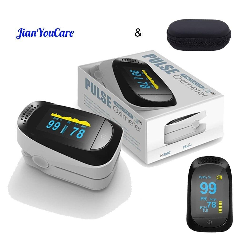 Digital Dedo Oxímetro de pulso de Oxigênio No Sangue PR PI SPO2 Alarme Oxímetro de dedo pulso Cuidados de Saúde Portátil 8 hora do sono enviar caso