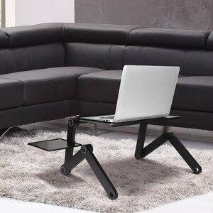 Image 3 - อลูมิเนียมแบบปรับได้แบบพกพาทีวีเตียง Lapdesk ถาด PC ขาตั้งโน้ตบุ๊คตารางโต๊ะขาตั้งแผ่น Pad