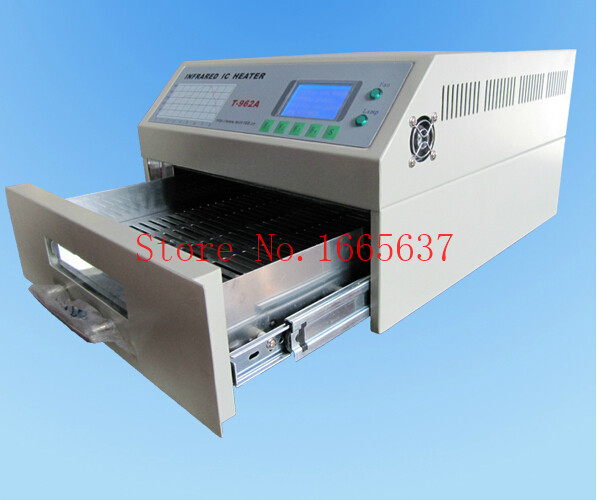 T-962 Reflow Oven Infrared IC Heater Soldering Machine 800 W 180 x 235 mm T962 BGA SMD SMT Rework CE Certificate 1 yr Warranty cm 8000 hexagon wet film comb for coating thickness tester meter 5mil 118mil
