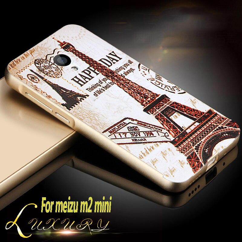 Для Meizu M2 Mini чехол 5 мультфильм из металла Алюминий Рамки зеркало акрил чехол для Meizu M2 Mini чехол мобильный телефон защитный